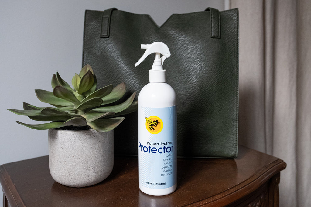 bee natural leather protector spray