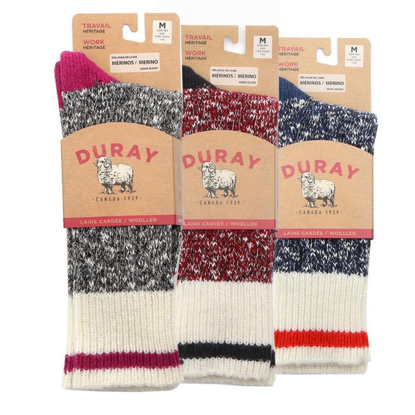 Women's Wool Work Socks 3 Pack - Back Ordered