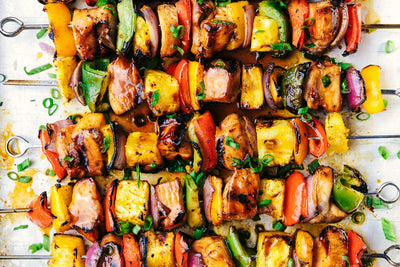 Sweet Guajillo Chicken Kabobs