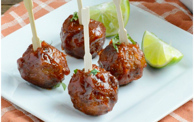 Slow Cooker Chipotle BBQ Meatballs