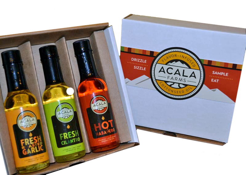 Acala Farms 3-oil gift set