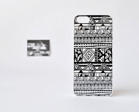 aztecaManoBN_iPhone5Case1