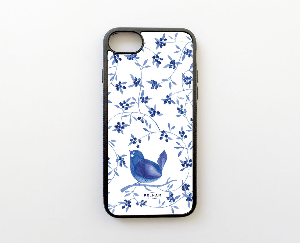 Blueberry Bird - Carcasa iPhone 7 Plus y iPhone 8 Plus