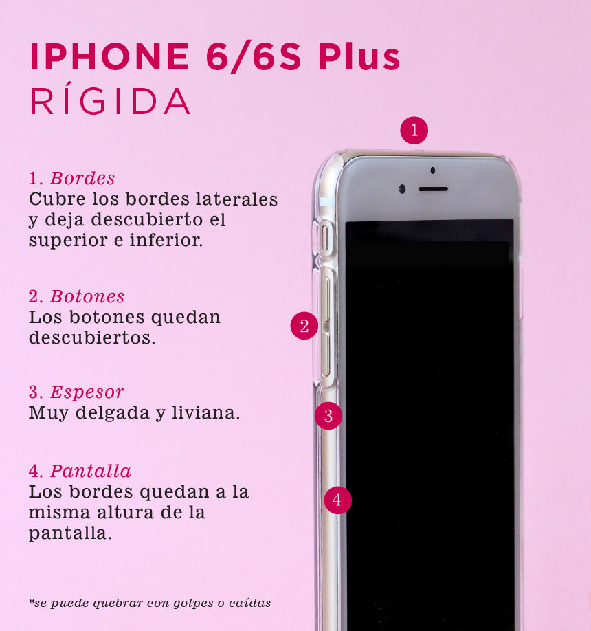 Cuarzo Rosado - Carcasa iPhone 6 Plus