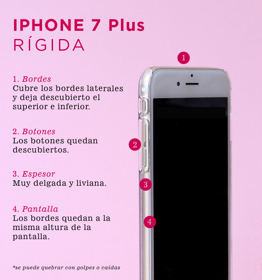 Cuarzo Rosado - Carcasa iPhone 7 Plus y iPhone 8 Plus