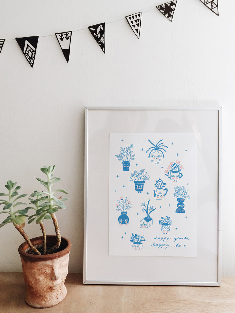 Happy Plants - Print