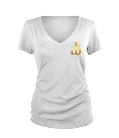 Women's ib26 Gold Logo V-Neck Tee