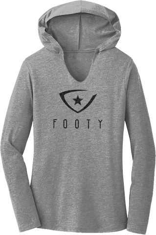 Women's Footy Logo Hooded Tee