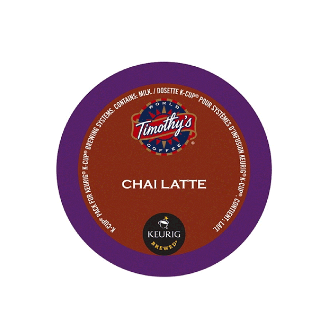 Timothy's Indulgence: Chai Latte K-Cup Pod