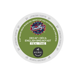Timothy's Decaffeinated English Breakfast Tea K-Cup Pod