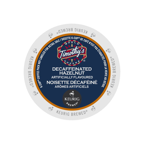 Timothy's Decaffeinated Hazelnut K-Cup Pod