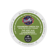 Timothy's Cranberry Green Tea K-Cup Pods 24ct