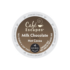 Café Escapes Milk Chocolate Hot Cocoa K-Cup Pods 24ct
