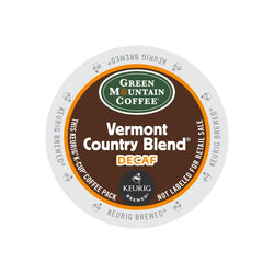 Green Mountain Coffee Vermont Country Blend Decaf K-Cup® Pods 24ct Medium