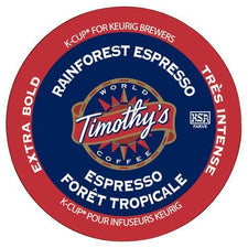 Timothy's Rainforest Espresso K-Cup Pods 24ct
