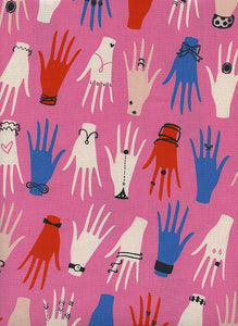 Cotton + Steel - Beauty Shop - Manicure Pink - PRICE PER HALF YARD