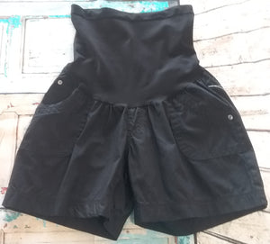 Full Panel Cargo Maternity Shorts; 3 Colors