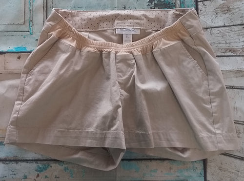 New Under Belly Panel Khaki Chino Maternity Shorts-2 Sizes