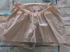 Under Belly Panel Khaki Chino Maternity Shorts