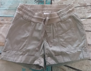 Small Under Belly Stretch Panel Khaki Maternity Shorts