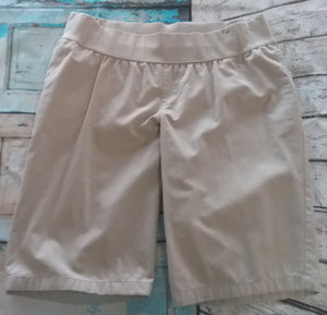 Small Under Belly Stretch Panel Khaki Bermuda Maternity Shorts