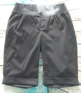 Under Belly Panel Size 4 Gray Long Maternity Shorts
