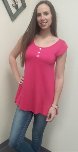 Short Tulip Sleeve Tunic Top (4 Colors)