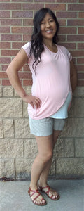 Tulip Hem Maternity & Nursing Friendly Top- 5 colors