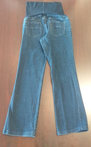 Size 4 Petite Full Panel Dark Wash Straight Leg Jean