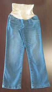 Small Petite Full Panel Medium Wash Straight Leg Jean
