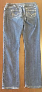 Large Under Belly Panel Stretch Straight Leg Jean