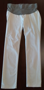 Large Front Belly Panel White Skinny Jean