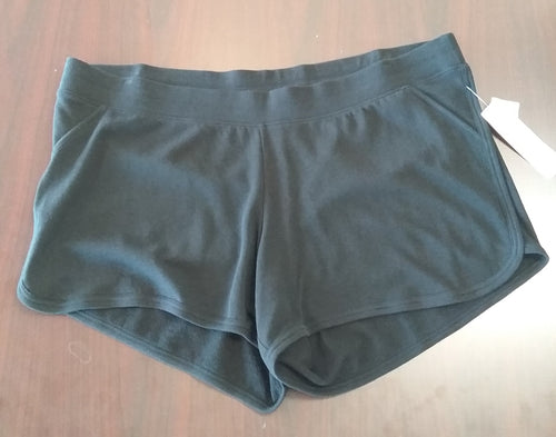 New Under Belly Black Plus Size Maternity Lounge Shorts