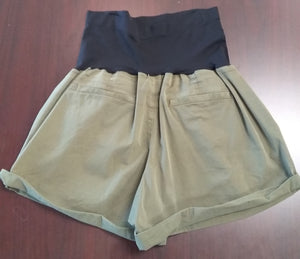 New Size 18 Full Panel Dark Olive Maternity Shorts