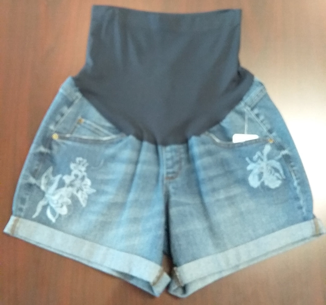 New Size 12 Full Panel Boyfriend Maternity Shorts