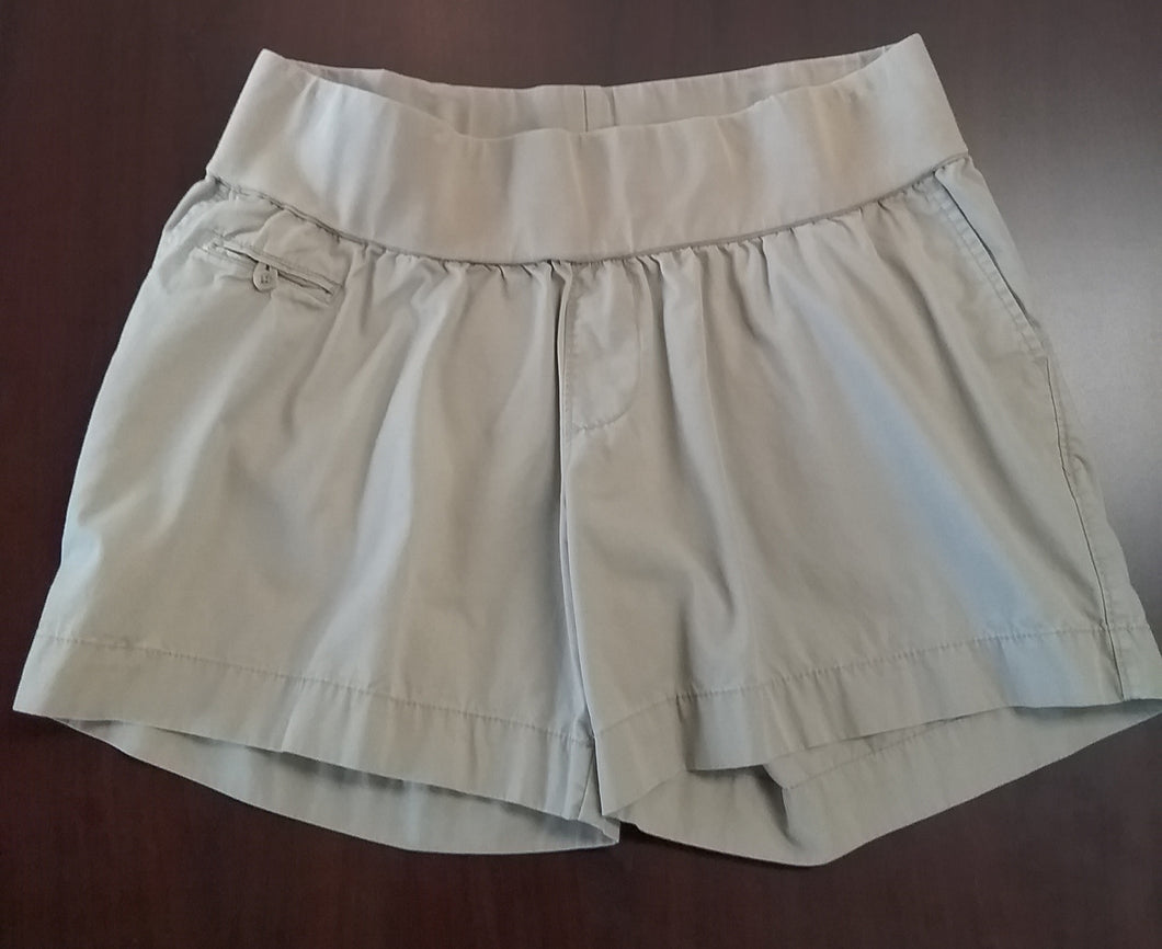 Large Under Belly Panel Khaki Maternity Shorts