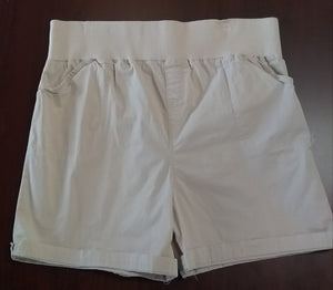 Large Under Belly Panel Stretch Khaki Maternity Shorts