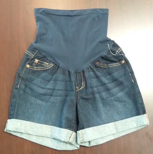 New XS Full Panel Dark Wash Jean Shorts
