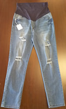New Blue Faded Full Panel Distressed Skinny Jean