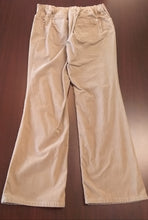 Size 12 Adjustable Stretch Tan Cord Maternity Pants