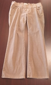 Size 12 Stretch Under Belly Dark Tan Cord Maternity Pants