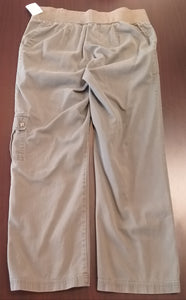 Large Under Belly Panel Olive Maternity Pants