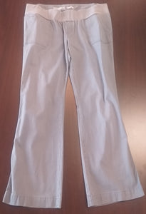 Large Under Belly Panel Cement Cord Maternity Pants