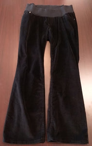 Large Under Belly Panel Black Cord Maternity Pants