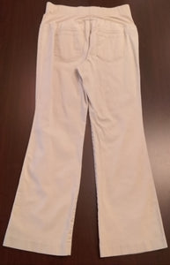 Medium Full Front Panel Light Khaki Maternity Pants