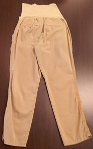 Size 12 Full Panel Khaki Chino Maternity Pants