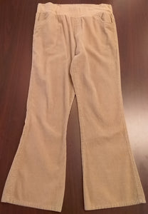 Medium Under Belly Panel Cord Khaki Maternity Pants