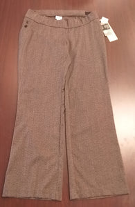 New Medium Stretch Brown Tweed Maternity Pants