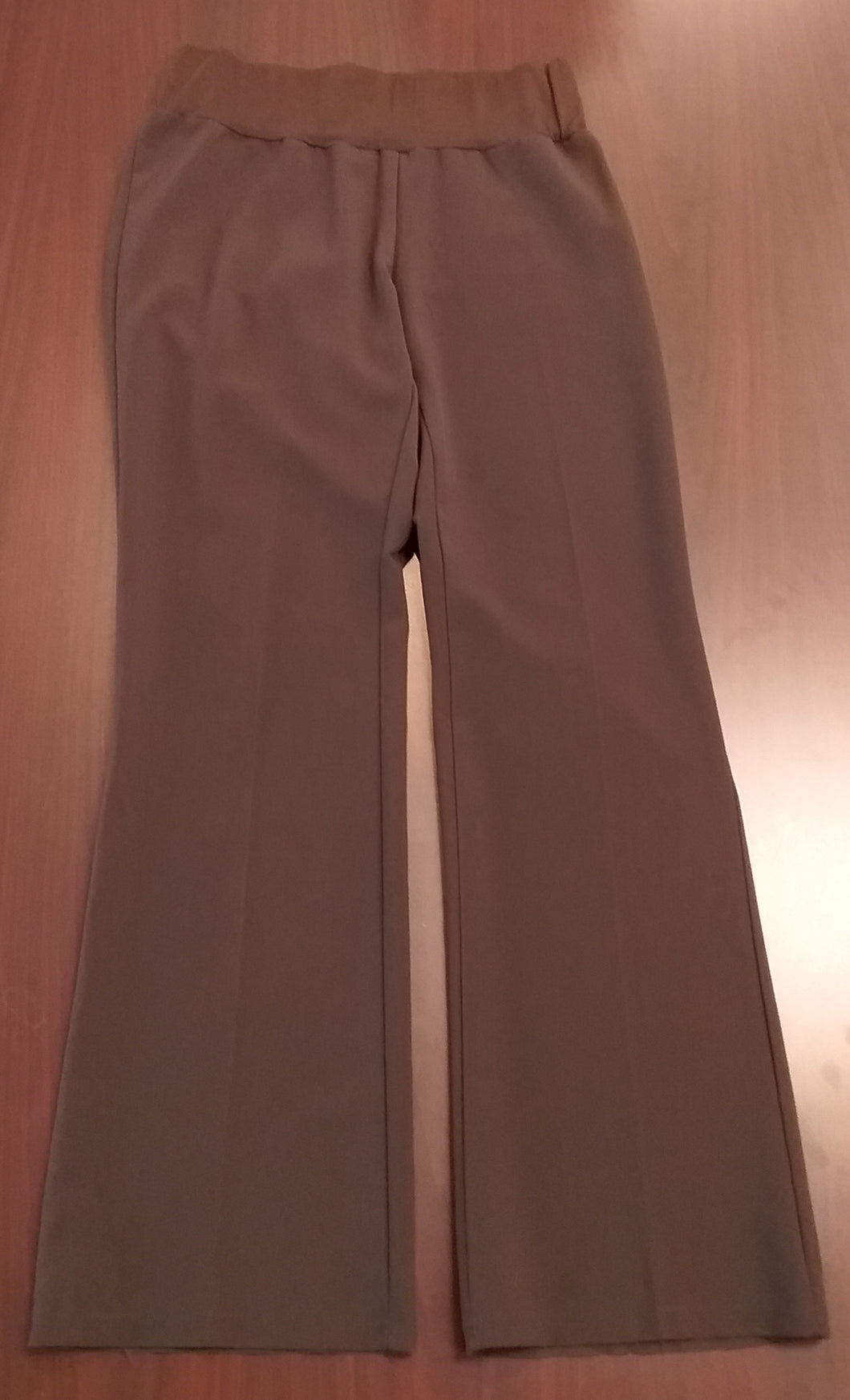 Medium Under Belly Panel Brown Maternity Pants