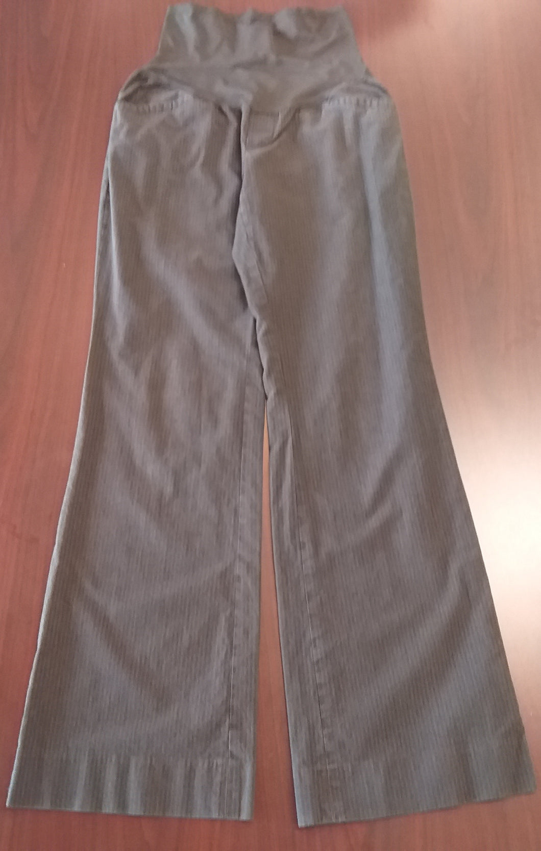 Size 6 Tall Full Panel Dark Gray Maternity Pants